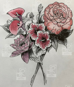 SDP Tattoo - Projet floral couleur -