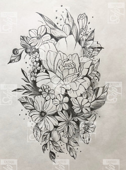 SDP Tattoo - Composition florale -