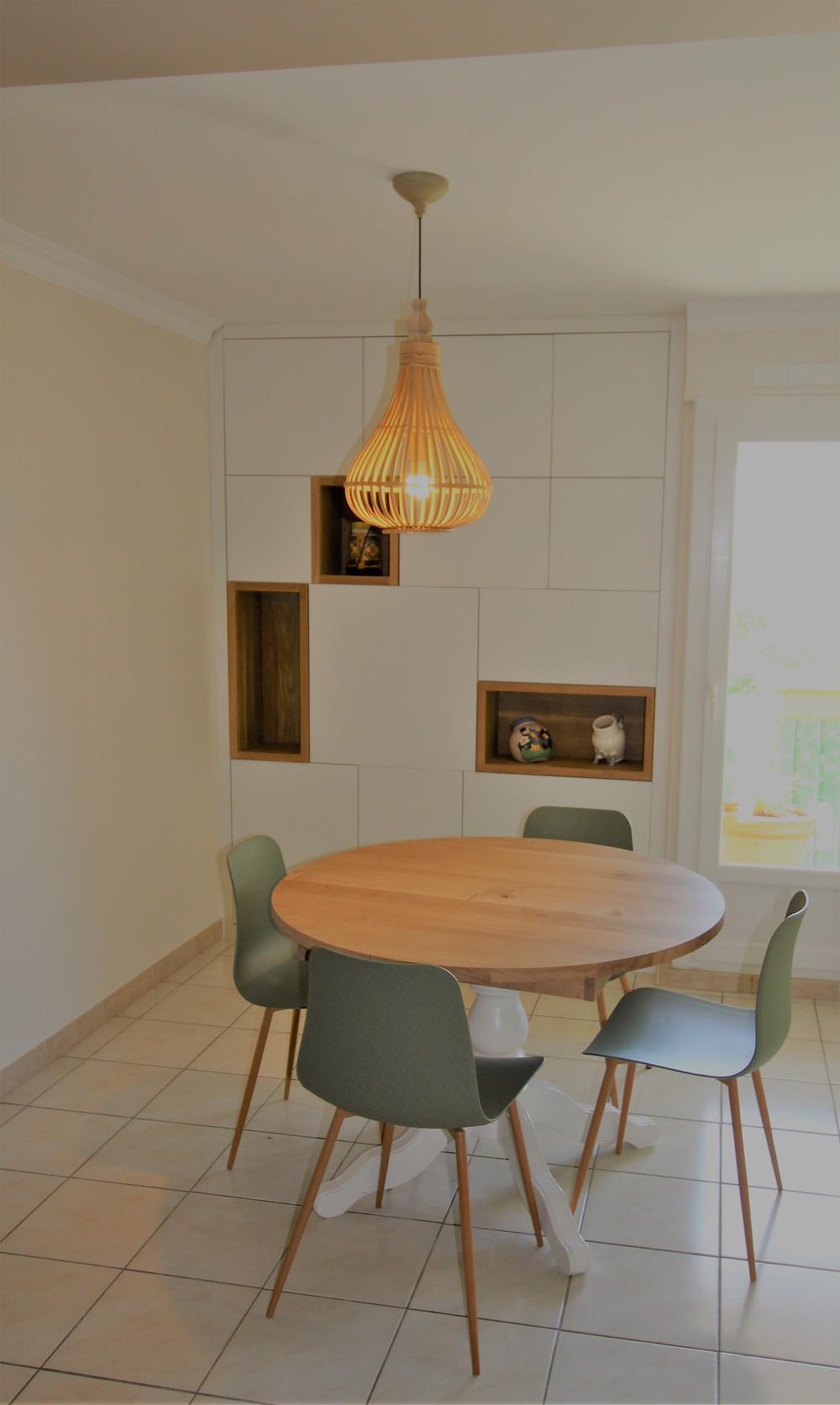 rangements sur mesures, relooking table, Alizarine Déco, Décoratrice d'intérieur, UFDI