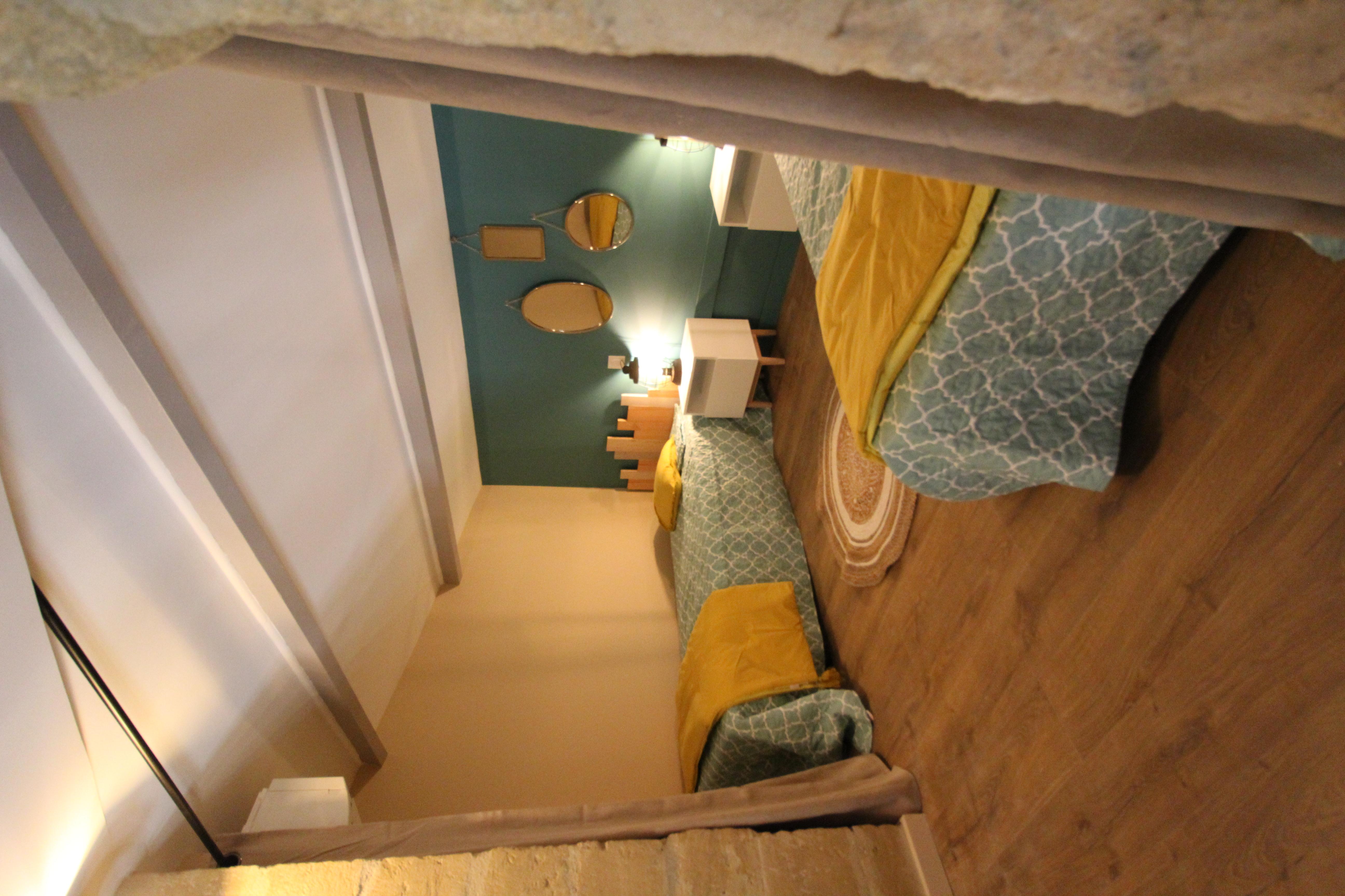 La chambre créée dans la mezzanine