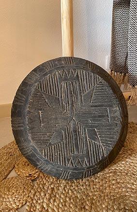 Plat en bois sculpté pièce unique - upcycled