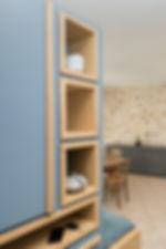 Création d'un meuble d'entrée sur mesure agencement architecte interieur Alizarine Déco