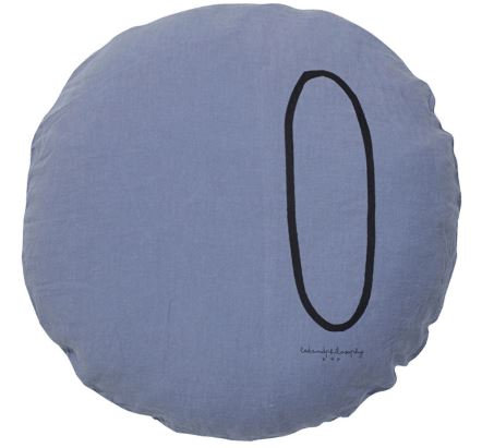 Coussin Rond Shining Typo