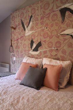 La chambre aux flamants roses
