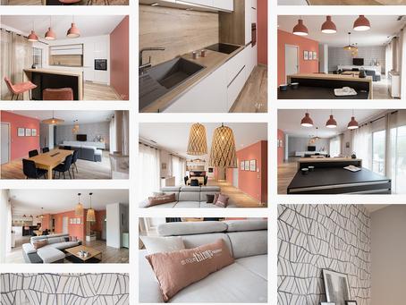 Reportage photo: Rénovation d'une villa - La pièce de vie et sa cuisine ouverte