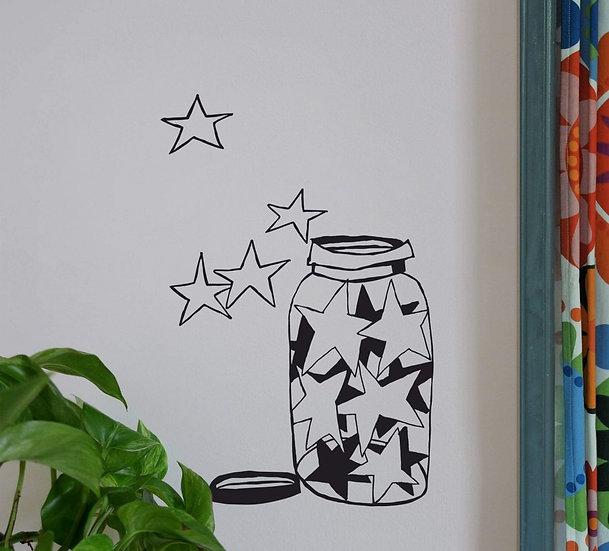 Sticker Bocal D'étoile