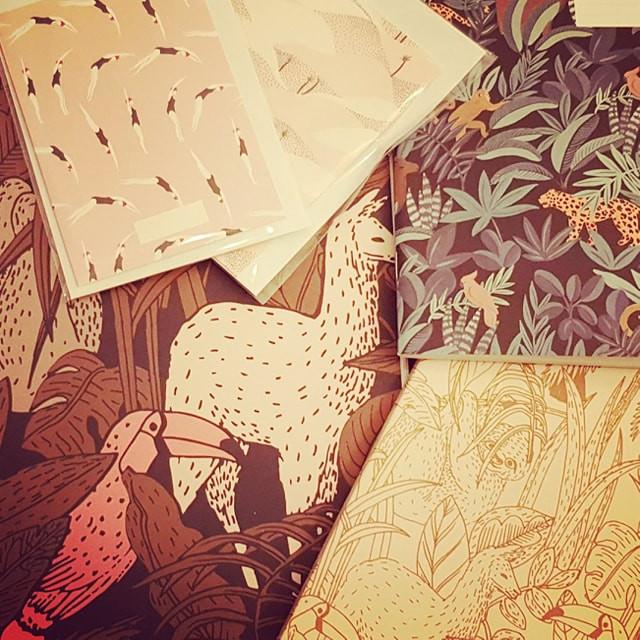 papier peint et papeterie - season paper