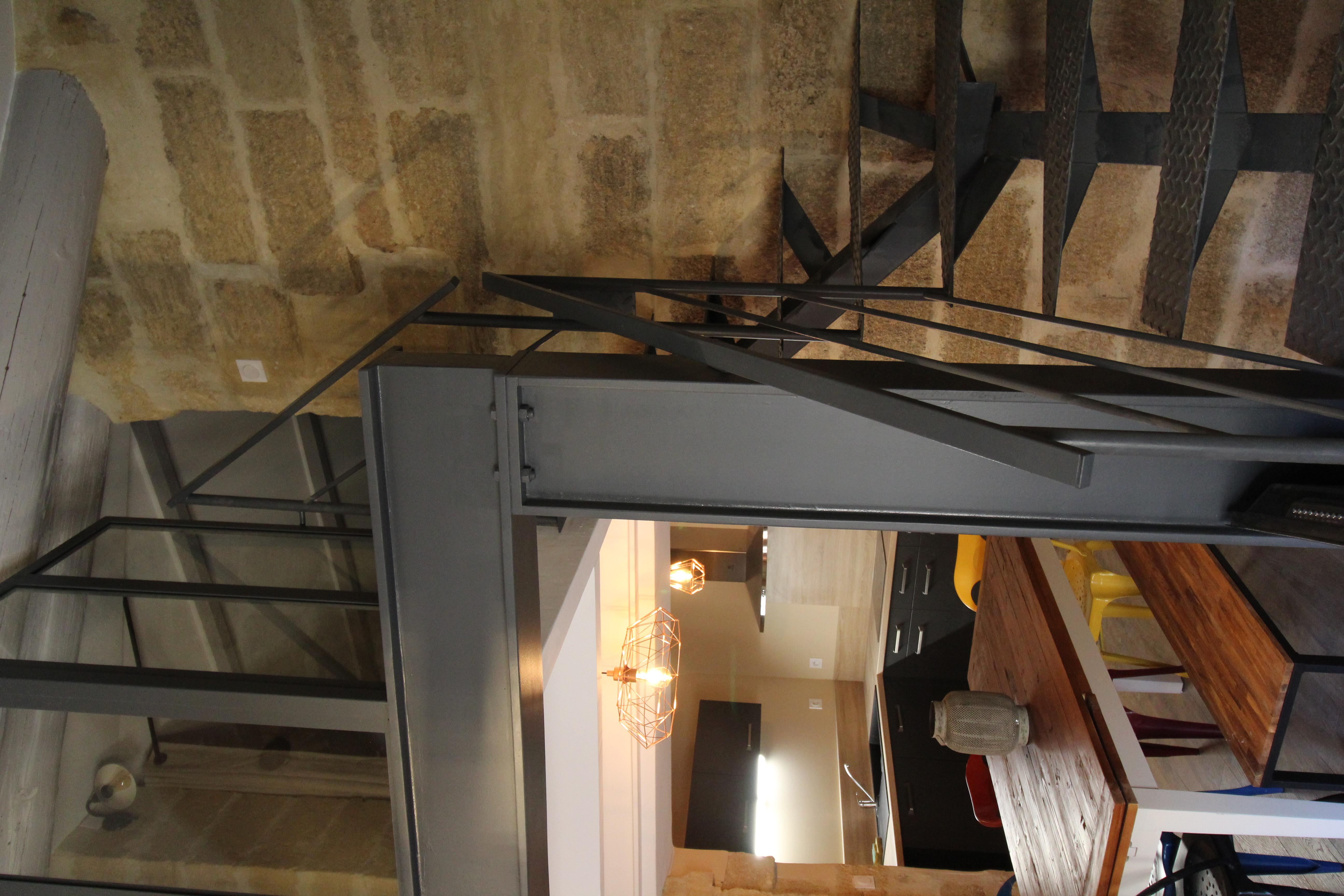 L'escalier en acier