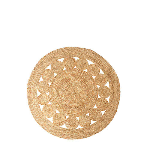 Tapis Rond Juni taille S Nature