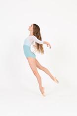 Samantha Mesh Overlay - Seafoam + White