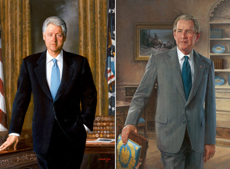 What's Behind President Trump's Removal of Bill Clinton's and George W. Bush's portraits?