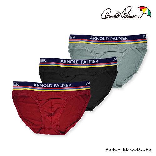 Arnold Palmer 3 Piece Pack 100% Cotton Mini Briefs