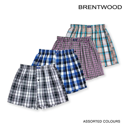 Brentwood Assorted 1 Piece Pack 100% Combed Cotton Boxer