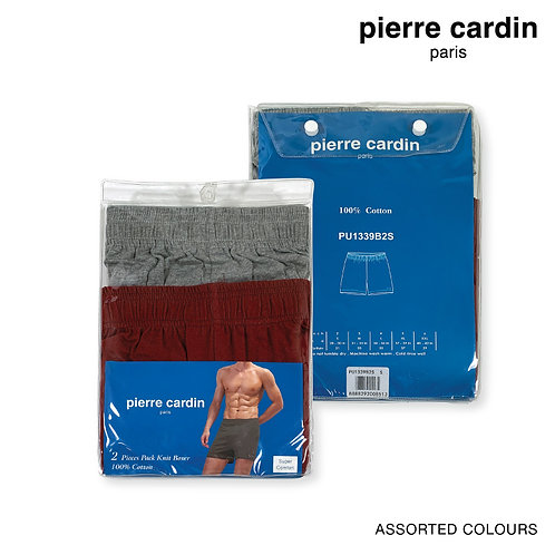Pierre Cardin 2 Pieces Pack Knit Boxer 100% Cotton