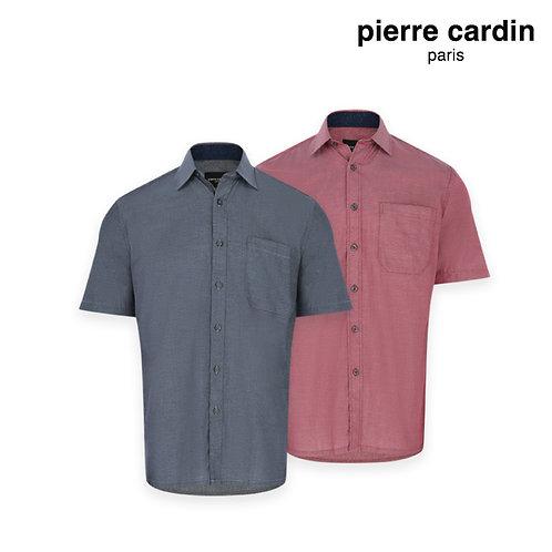 PIERRE CARDIN Short Sleeve 100% Cotton Shirt