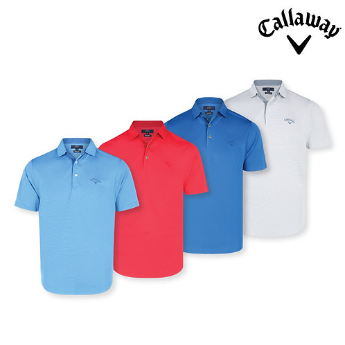 Callaway Quick Dry 100% Micro Polyester Printed Interlock Polo Shirt