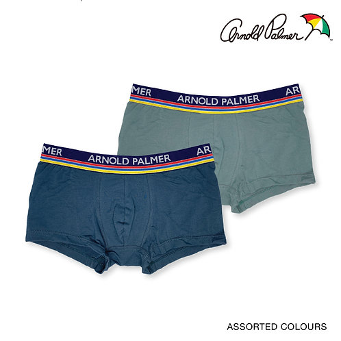Arnold Palmer 2 Piece Pack 100% Cotton Trunks Briefs