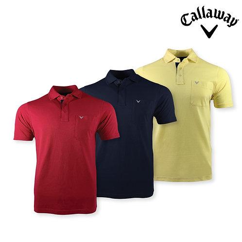 Callaway Polo Shirt 100% Cotton Opti-Soft Fabric