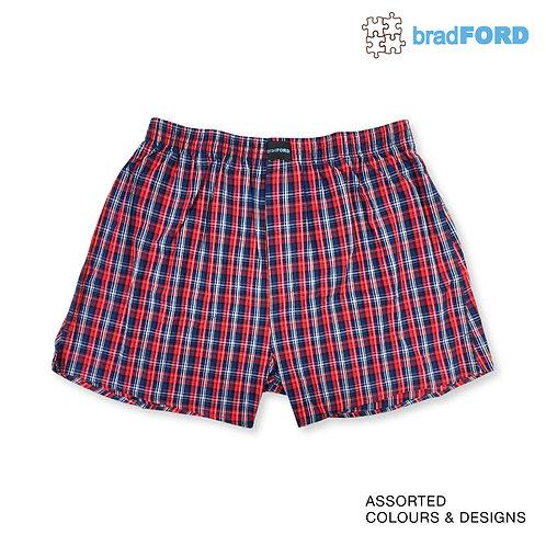 bradFORD Assorted 1 Piece Pack 100% Cotton Boxer Short