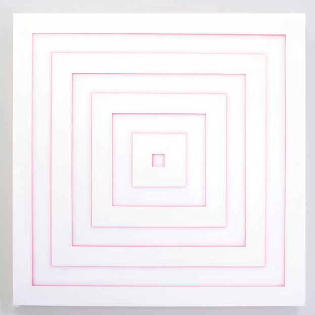 Wht and Pink Square