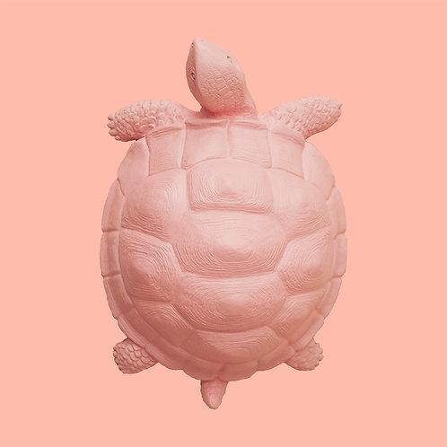Deko-Schildkröte / Pastellrosa
