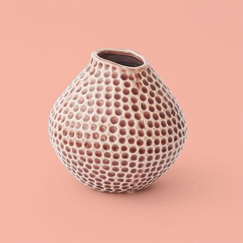 Vase / Prägung / Mauve