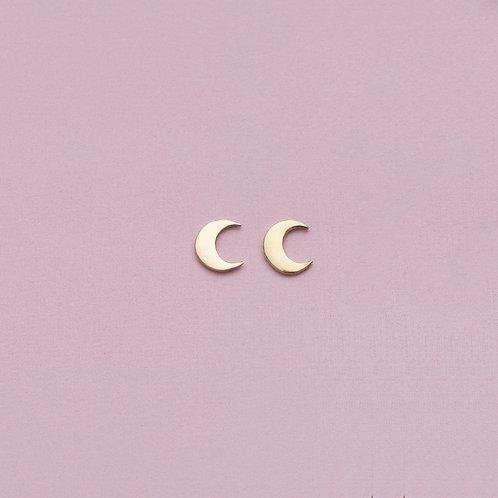 Ohrstecker / Moon / Vergoldet