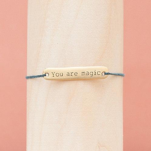 """Armband / """"You are magic"""" / Blue"""