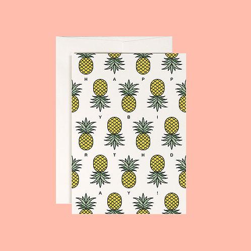 Klappkarte / Ananas Polka / DIN A6