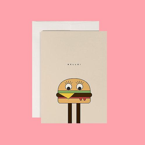 Klappkarte / Burgerman / DIN A6