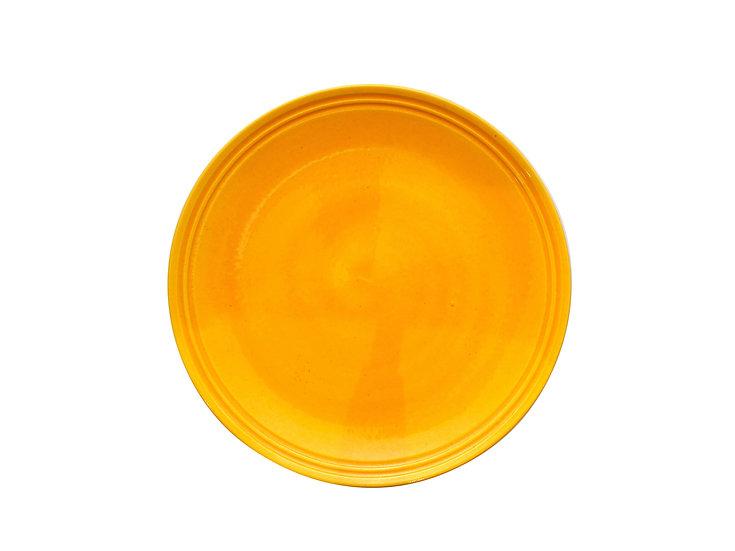 3代加藤利昇 黄交趾六寸皿