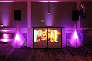 Video screen wedding dj booth.jpeg