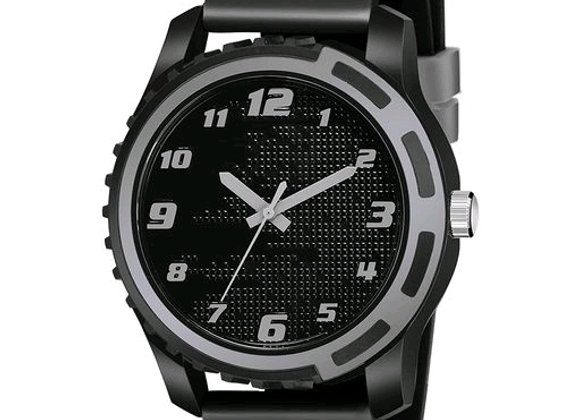 Black Dial black rubber belt analogue MT watch for men's and boys