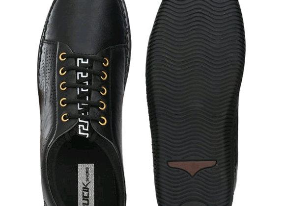 Bucik Men's black synthetic leather shoes