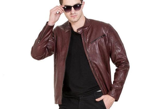 Vestitch Solid Designer Arm Quilted Faux Leather Jacket for Men
