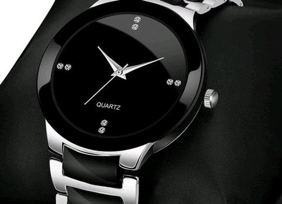 Silver IIk analog silver dial basic wrist watch for men