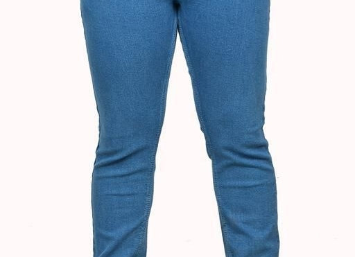 Fancy Denim Solid Jean