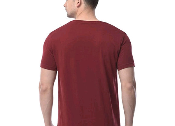 Polo plus men maroon text printed