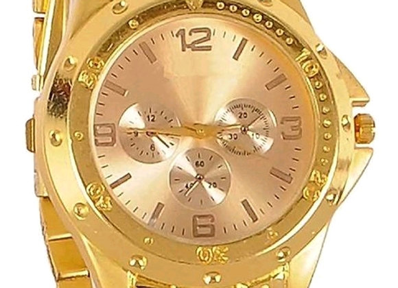Full gold Rosra analogue metal silver gold Dial watch for men