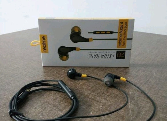RE Buds 4 with Extra Bass Stereo Earphone With Mic