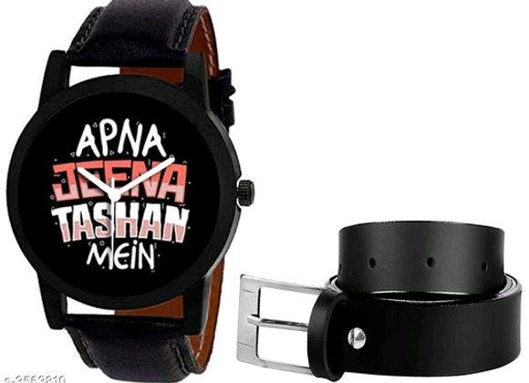 Trendy Men's Watches and belt combo
