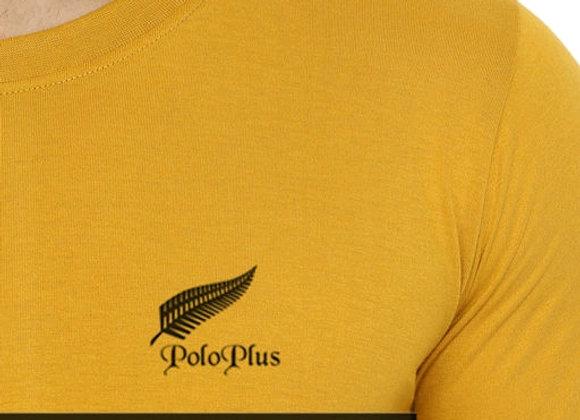 Polo plus men yellow text printed