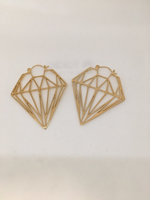 Tawapa Gold Plated Diamond Sillouet
