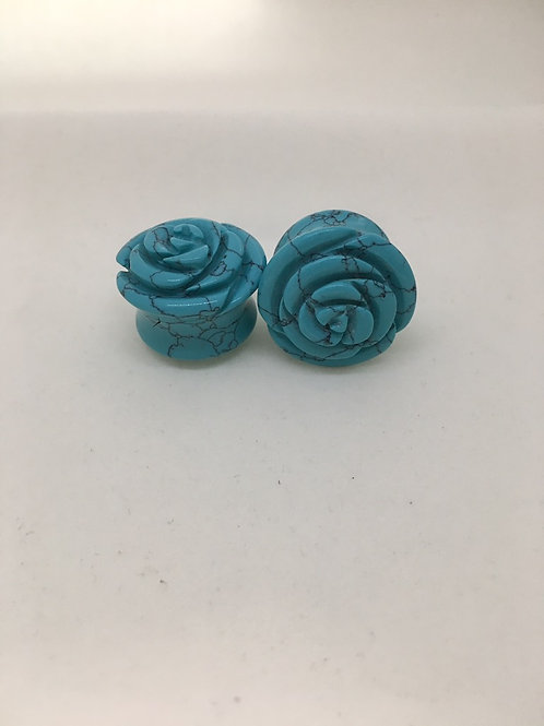 Tawapa Turquoise Synthetic Plugs