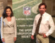 Dr. Kutner with Dr. McKeon at the 2018 NFL Neuropsychologist's Meeting