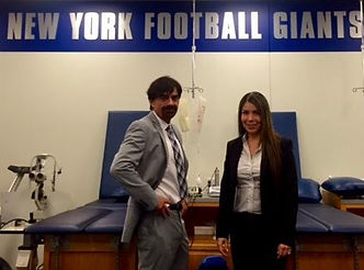 Dr. Kutner and Dr. De La Pena at the 2016 New York Giants' Team Physicals