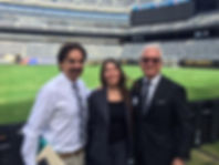 Dr. Kutner, Dr. De La Pena, and Dr. Stieg at the 2016 New York Giants' Team Physicals