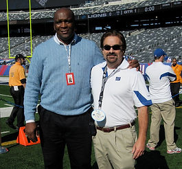 Dr. Kutner and former New York Giants' tight end Howard Cross