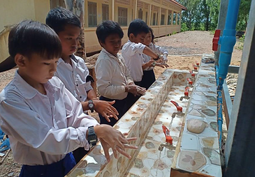 Building hand washing stations and water
