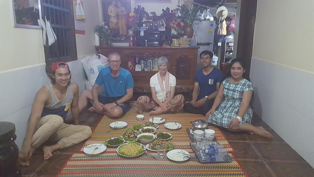 Unser Festmahl mit Teilen der Familie